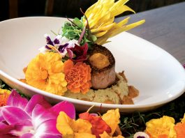 Florida Botanical Beef Tenderloin by chef Taylor Wilson, Photo by Jerry Rabinowitz