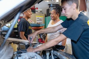 Teens get vocational skills training as part of the Project LIFT mission. Photo by Liz McKinley