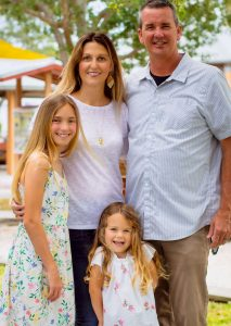 Jeff and Malia Schramm with their daughters Ella and Haven