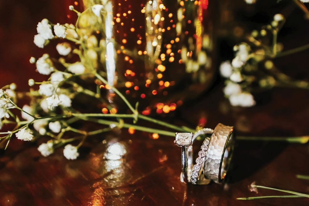 Joseph's Jewelry in Stuart created the stunning wedding bands, Gabriella and Trevor Deggeller wedding, Photo by Jennifer Sampson