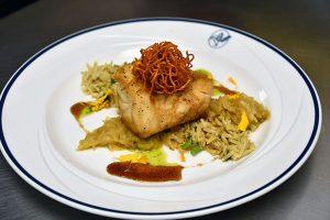 grouper with honey orange glaze