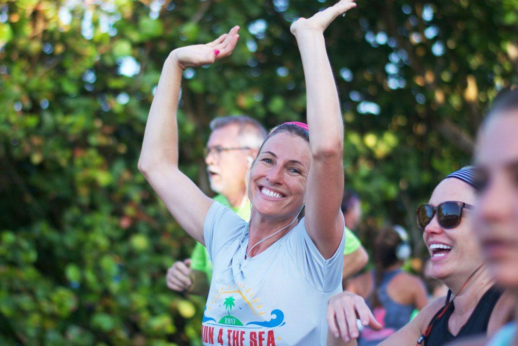 Run 4 the Sea participants running in 2019. Photos courtesy of Loggerhead Marinelife Center