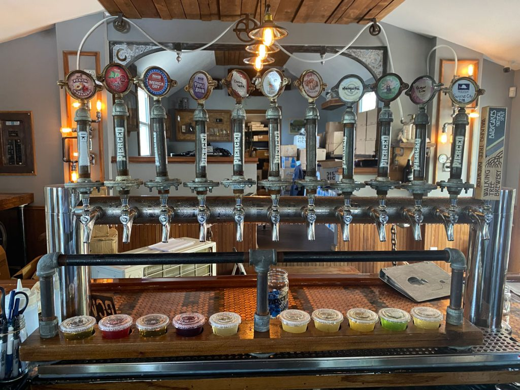 There are 12 ciders and craft beers on tap daily. Photo by Aaron Wells