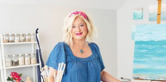 Artist Robyn Ladwig in her studio, Photography by Stay Gold Photo
