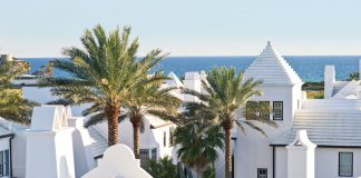 Alys Beach is a New Urbanist town of 900 villas, cottages, and homes spread across 158 acres, all a short and sublimely walkable distance from the pristine white-sand beach