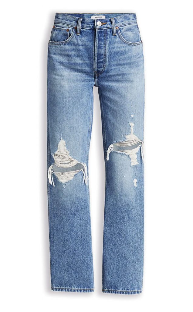 Re/done high-rise '90s loose jeans ($285); Saks Fifth Avenue, The Gardens Mall