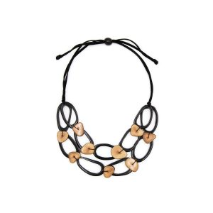 Tagua by Soraya Cedeno crystal necklace