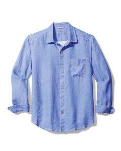 Tommy Bahama Sun Shelter Collection Sea Glass Breezer Linen Shirt
