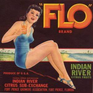 Vintage Indian River crate labels, photo courtesy of Visit Indian River County