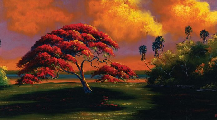 Royal Poinciana on the Indian River, Mary Ann Carroll. Image courtesy of The Elliott Museum